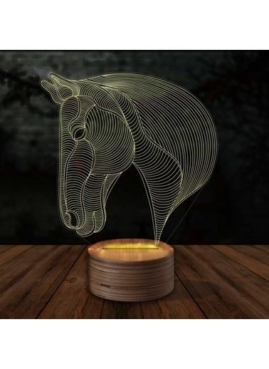 Artikel At Kafası 3D LED Gece Lambası Renkli